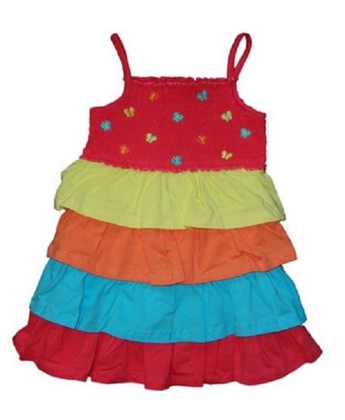 Samara Todder Girls Ruffle Dress, Calypso Coral, 2T