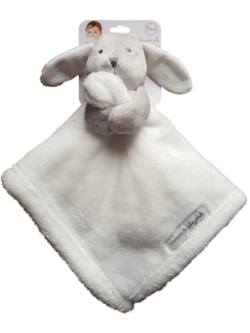 Blankets and Beyond Baby Bunny Rabbit White Security Blanket Lovey