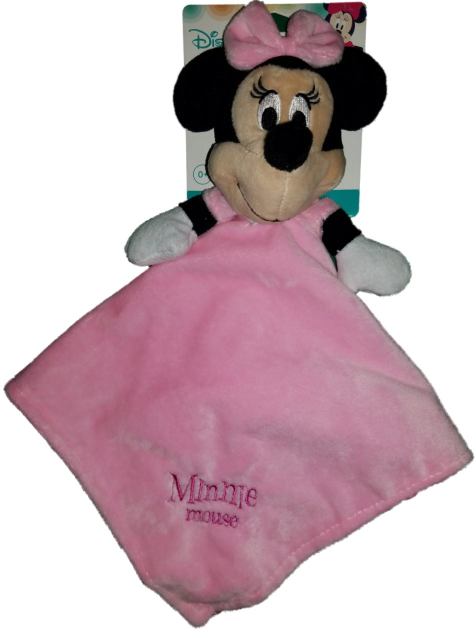 Disney Minnie Mouse Baby Girls Security Blanket Lovey Nunu