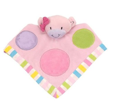 Little Miss Matched Pink Monkey Security Blanket Lovey