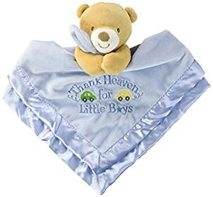 Baby Starters Baby Infant Blue Thank Heaven for Little Boys Bear Security Blanket Lovey-baby shower gift, baby blanket, security blanket, nunu, lovie, lovey, lovies