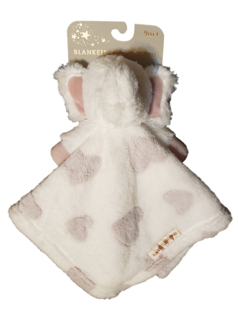 Blankets and Beyond Baby Infant Girls Plush Elephant Pink Hearts Security Blanket Lovey-baby shower gifts, blankets  beyond, plush elephant, lovie, lovey, lovies, loveys, baby gifts, baby toys, cuddle, nunu