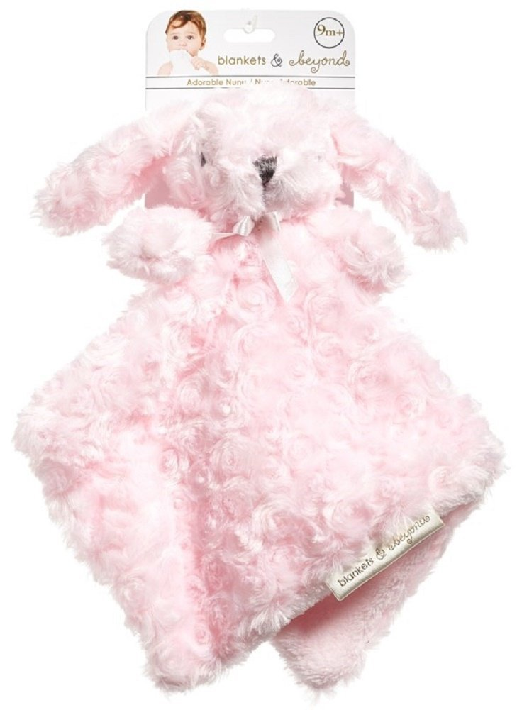 Blankets and Beyond Pink Bunny Baby Security Blanket Lovey Lovie-discontinued security blankets lovies loveys nunus baby shower gifts receiving blankets girls nunus plush blankets