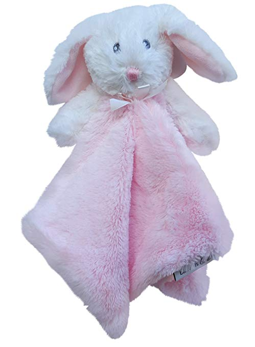 Blankets and Beyond Pink Bunny Rabbit Security Blanket Lovey Lovie-lovies, loveys, lovey, nunu, blankets, baby shower gifts, baby blankets