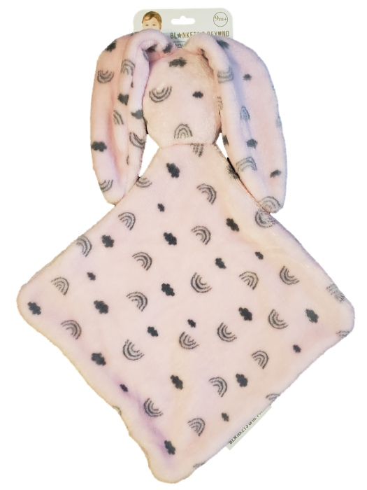 Blankets and Beyond Baby Boy Girls Pink Bunny Rabbit Security Blanket Lovey-baby shower gifts, plush, baby toys, plush animals, bunny rabbits, lovies, loveys, lovey, snuggle buddy, girls gifts, toys