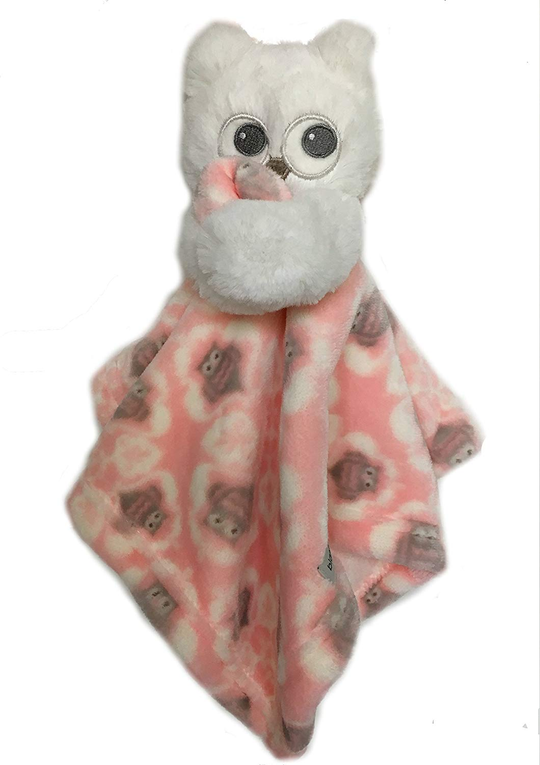Blankets and Beyond Pink and White Owl Security Blanket Nunu Lovey-baby blankets, security blankets, baby shower gifts, lovies, lovie, lovey, nunu