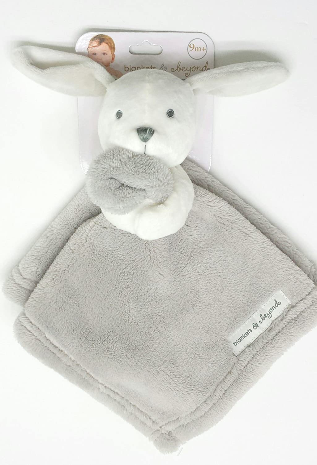 Blankets and Beyond Grey White Bunny Security Blanket Lovey
