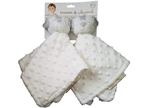 Blankets and Beyond 2 Pack White Bears Security Blankets Lovies-security blankets, lovies, loveys, lovey, baby shower gifts