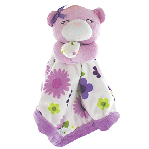 Carter's Baby Infant Purple Floral Bear Security Blanke Lovey-baby shower gifts, security blankets, lovey, lovies, nunu, loveys