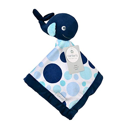 Carter's Baby Infant Boy Blue Whale Security Blanket-baby shower gifts, baby boy blankets, baby infant boy toys, baby infant boy plush toys