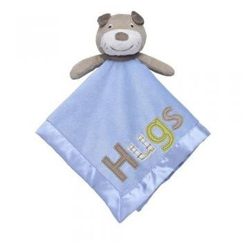 "Carter's Baby Boys Blue ""Hugs"" Puppy Security Blanket Lovey-baby shower gifts baby blankets security blanket discontinued lovies loveys snuggle buddy nunu"