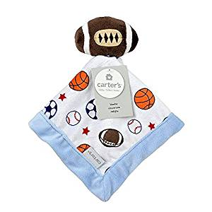 Carter's Baby Infant Boy Football Soccer Security Blanket-baby shower gifts, baby boy snuggle buddy baby boy plush toys infant boy snuggle buddie