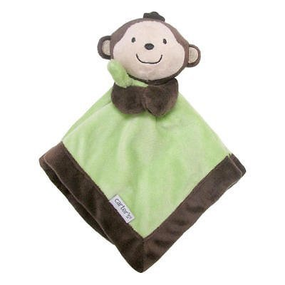Carter's Baby Infant Brown/Green Monkey Security Blanket Lovey-baby shower gift, nunu, security blankets, lovies, loveys, lovey, baby blankets