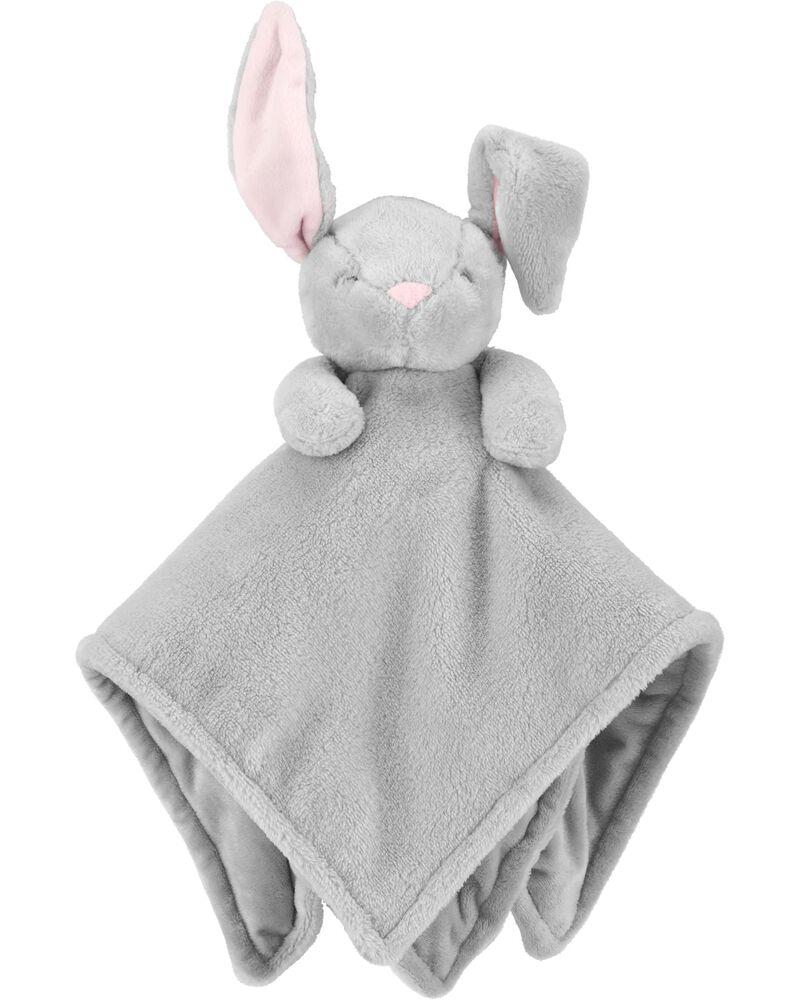 Carter's Baby Infant Girls Boys Grey Bunny Rabbit Security Blanket Lovey-baby shower gifts, plush toys, lovie, lovey, lovies, loveys, nunu, snuggle buddy, plush bunny, blankets, baby toy