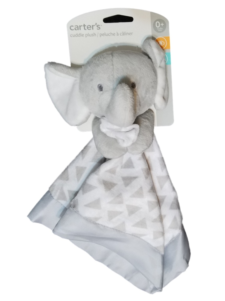 Carter's Baby Boys Girls Grey Plush Elephant Security Blanket Lovey-baby shower gifts, baby boy blankets, baby blankets, elephants, baby blankets, lovies, loveys, lovey