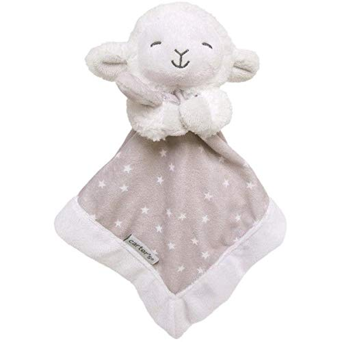 Carter's Baby Boy Girl Grey Lamb Plush Security Blanket Lovey-baby shower gifts, girl blankets boy blankets snuggle buddy lovie lovey nunu