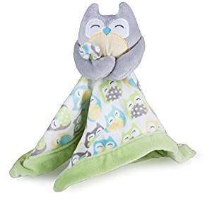 Carter's Baby Infant Grey Owl Security Blanket Lovey (Discontinued by Manufacturer)-baby shower gift, lovies, loveys, lovey, nunu, baby blanket