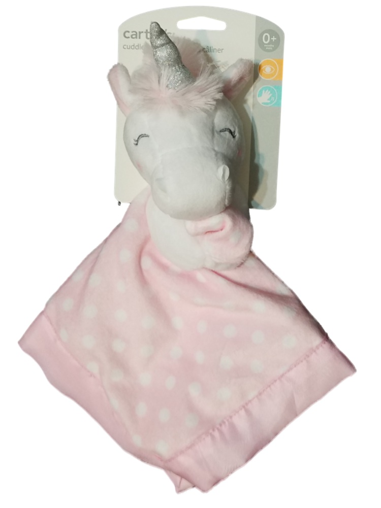 Carter's Baby Girls Unicorn Dot Security Blanket Lovey-baby shower gifts, baby blankets, baby security blanket, lovies, loveys, lovey, nunu, baby blankets, unicorns