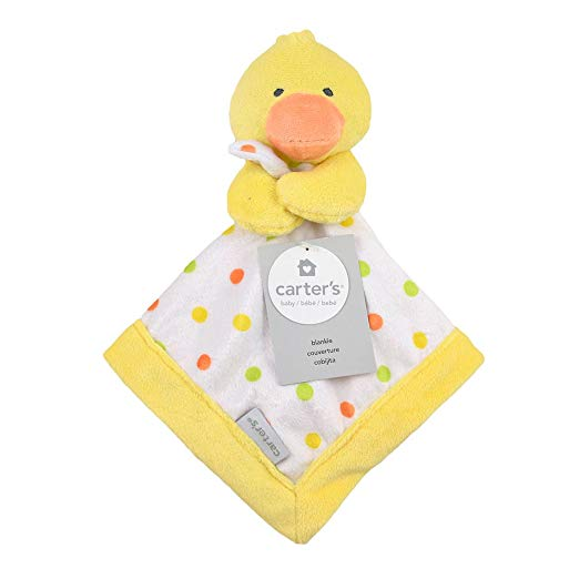 Carter's Baby Infant Yellow Duck Security Blanket (Discontinued by Manufacturer-baby shower gift, duck blankets, security blankets, lovies, lovey