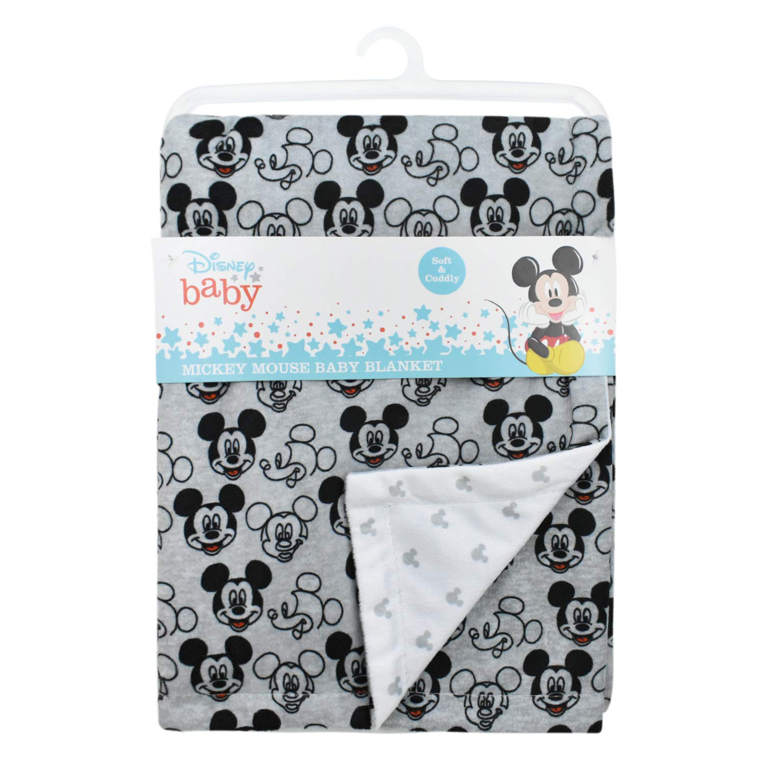 Disney Baby Boy Mickey Mouse Grey Mink Double Sided Blanket-baby shower gift, mickey mouse, mouse blankets, nursery, crib blankets, stroller blankets