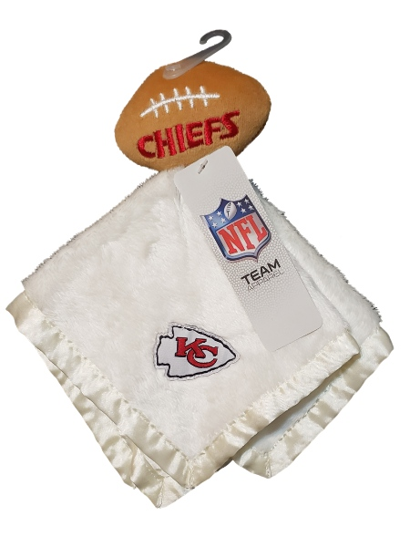 Kansas City Chiefs Baby Boy Football Cuddle Buddy Security Blanket Lovey-baby shower gifts, football, security blanket, plush toys