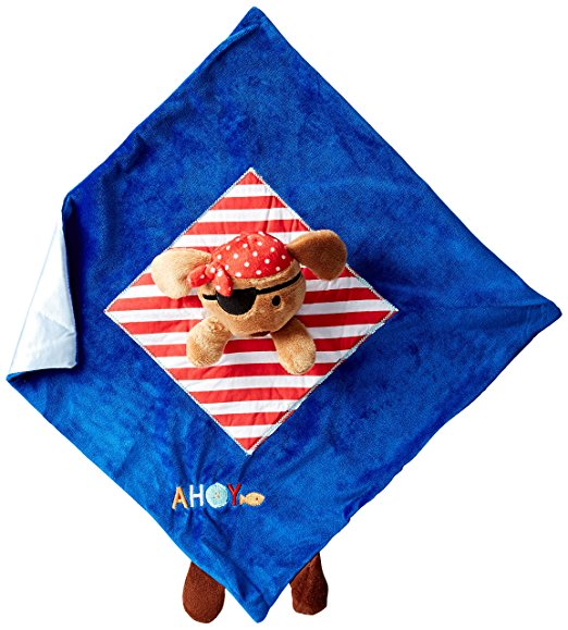 Kids Preferred Puppy Pirate Baby Security Blanket Lovey Lovie-baby shower gift kids security blankets lovies lovey nunu receiving blankets plush toys