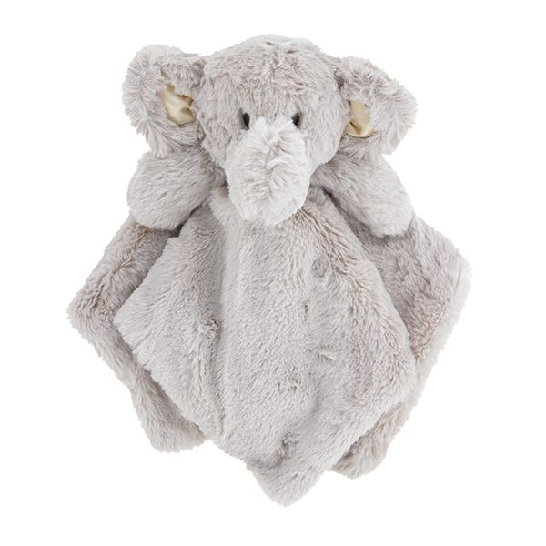 K Luxe Baby Boys Girls Plush Elephant with Rattle Security Blanket Lovey-baby shower gifts, plush toys, baby toys, plush elephant, lovey, lovie, lovies, loveys,