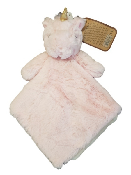 K Luxe by Kellytoy Baby Infant Girl Pink Unicorn Security Blanket Lovey-baby girls toys, unicorn, security blanket, lovey, lovie, lovies, loveys, nunu, cuddle buddy, baby shower gifts, plush toys, baby toys