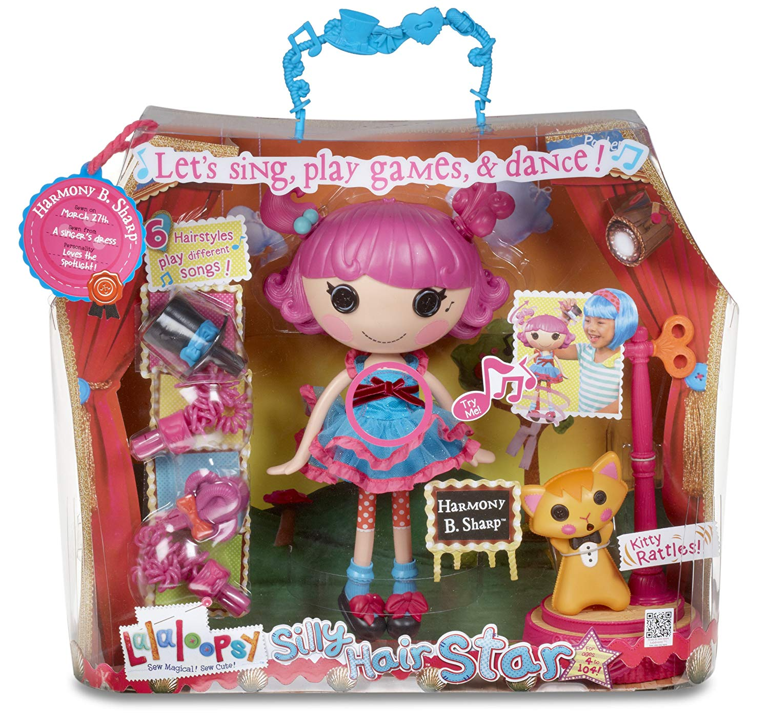 Lalaloopsy Harmony B Sharp Doll-kids toys, girls dolls, dolls, lalaloopsy, bitty button, singing dolls
