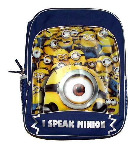 Despicable Me I Speak Minion Kids School Backpack-minion, kids backpacks, kids bags