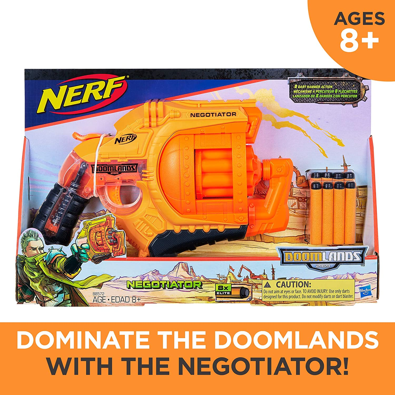 Nerf Doomlands 2169 Negotiator Blaster-kids toys, boy toys, outdoor toys, fun toys, nerf