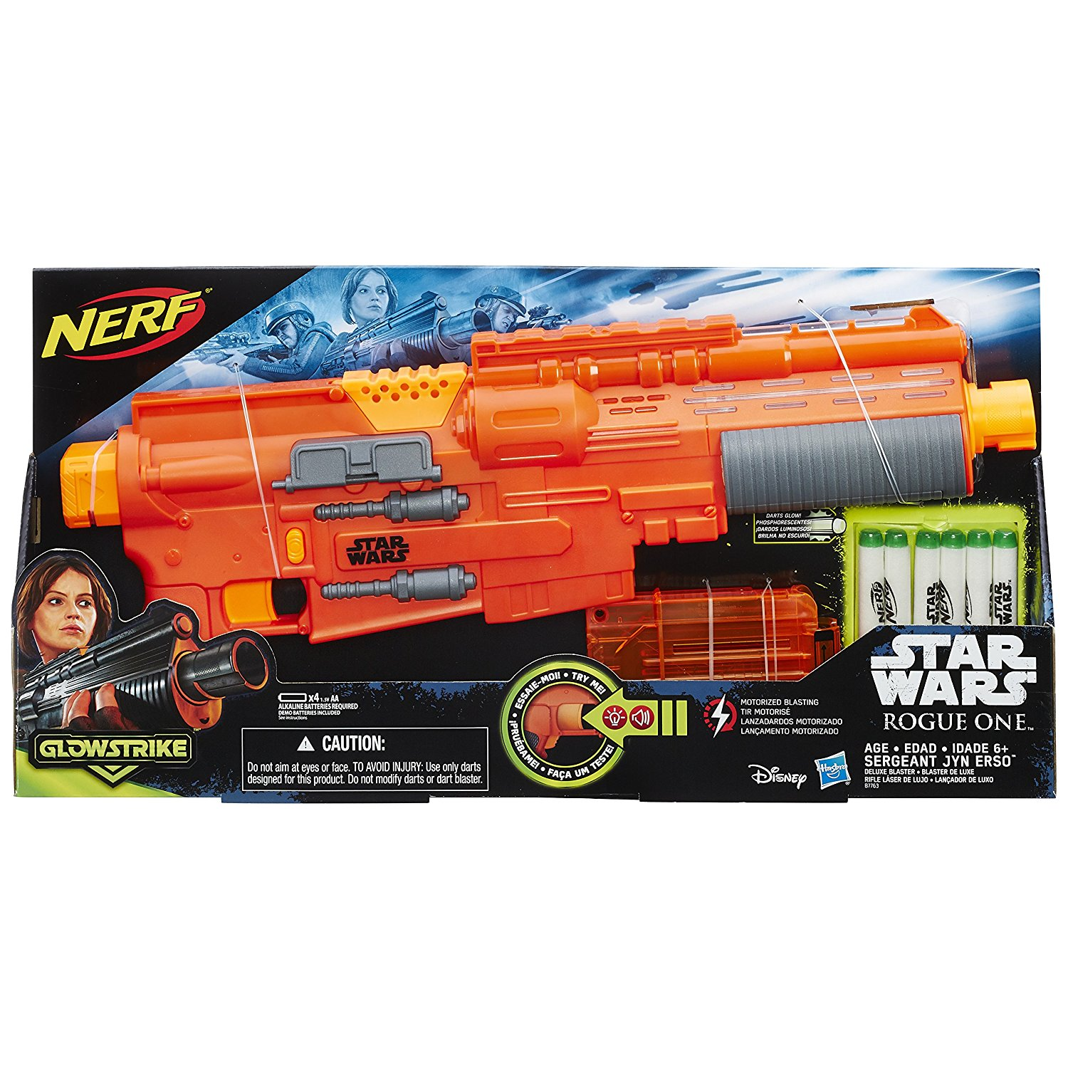 Nerf Star Wars Rogue One Sergeant Jyn Erso Deluxe Blaster-kids toys, boy toys, nerf toys, blasters, nerf guns, girl toys, outdoor toys, star wars toys