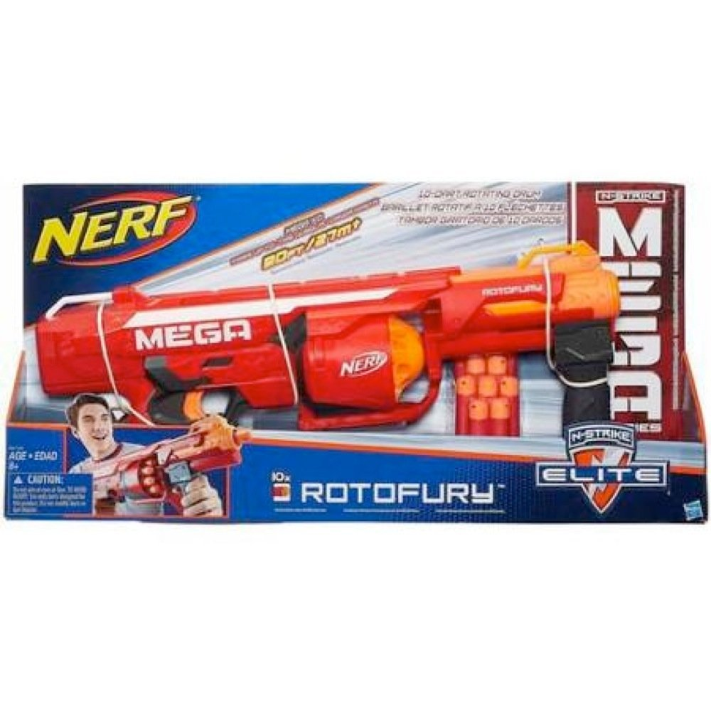 Nerf N Strike Mega Series Rotofury Blaster New And