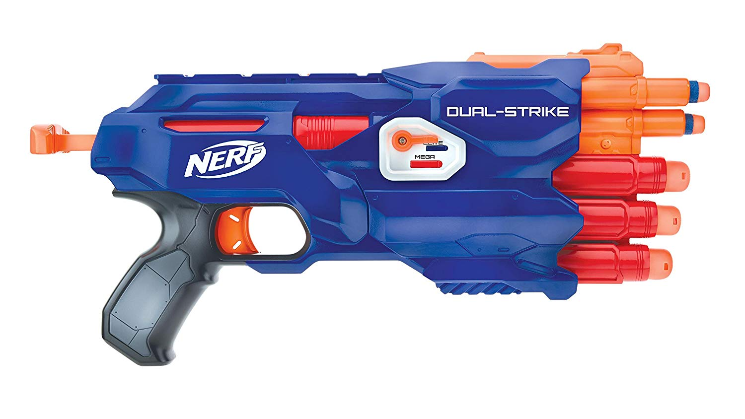 Nerf Special Edition Dual Strike Elite and Mega Blaster With Bonus Double Dart Ammo-kids toys, nerf toys, outdoor toys, boy toys, girl toys